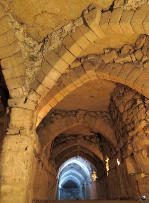 Croisée d'arches gothiques