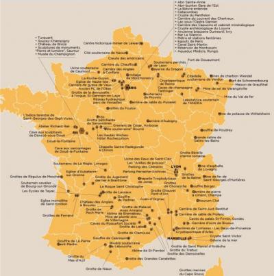 France souterraine - carte