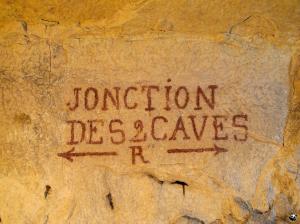 Jonction des 2 caves
